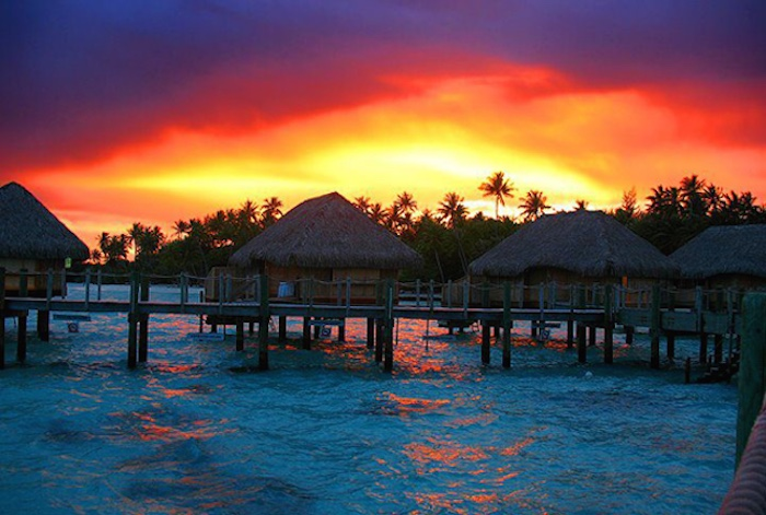 Bora Its No Secret That Is One Of The Most Beautiful Places In World Just Look At This Sunset And Youll Understand Why